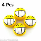 4 X Round Smile Face Teeth Pattern Car Wheel Tyre Valve Stems Air Dust Cover Cap