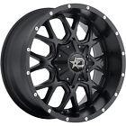 18x9 Black 645B 8x6.5 +18 Wheels Terra Grappler G2 275/70/18 Tires