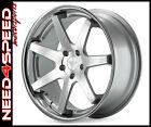 "20"" Ferrada FR1 Machined Silver 20x9 20x10.5 Concave Wheels for M35 M37 M45 M56"