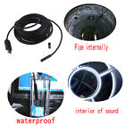 2/5/7/10/15M 6LED USB Wire Waterproof Endoscope  Snake Inspection Camera Hot