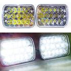 "PAIR 7x6"" LED Headlight CREE 5X7"" Crystal Clear Sealed Beam Headlamp Light Bulbs"