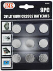 9 Piece 3v CR2032 Lithium Coin Batteries - Watches Scales Cameras Remotes
