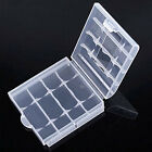 10 x Hard Plastic Blue Green Case Cover Holder AA / AAA Battery Storage Box EE