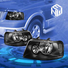 Fit 03-06 Ford Expedition U222 Black Crystal Lens Clear Corner Signal Headlight