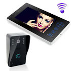7'' Wireless Video Door Phone Intercom Doorbell System Home Security IR Camera