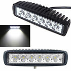 2 PCS 18W CREE LED Spot Lamp Driving Boat Offroad 4WD Fog UTE Work Light Bar 6""