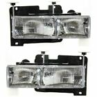 FLEETWOOD DISCOVERY 1999 2000 2001 2002 FRONT HEADLIGHTS HEAD LAMPS LIGHTS PAIR