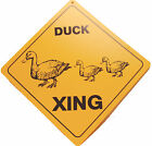 funny man cave XING Crossing caution plastic sign Duck duckling farm country new