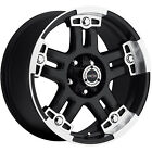 20x9 Black Vision Warlord 8x6.5 +0 Wheels LT285/50R20 Tires