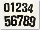 "RACING GO KART 6""  NUMBERS VINYL BLACK OR WHITE NEW 0 1 2 3 4 5 6 7 8 9 STICKER"
