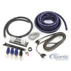 Belva BAK02BL Blue 1/0 Gauge 2-Channel Amplifier Car Power Installation Kit Amp