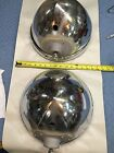 "TWILITE 12"" Headlights (Pair) Buckets Reflectors Bezels Original"