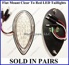 Flat Mount Clear to Red LED Taillights Brake Tail Running Turn Signal F39C - 2