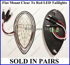 Flat Mount Clear to Red LED Taillights Zephyr Brake Tail Turn Signal F39CZ - 3