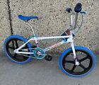 Haro Sport Dominguez BMX Freestyler Bike 20 in White Blue Red Bicycle 1984 Repop