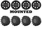 Kit 4 Interco Aqua Torque Tires 28x10-14 on Raceline Mamba Black Wheels 1KXP