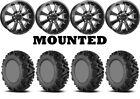 Kit 4 EFX MotoMTC Tires 26x9-14/26x11-14 on Raceline Mamba Black Wheels 1KXP