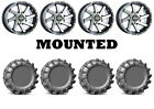 Kit 4 EFX MotoBoss Tires 30x10-14 on Raceline Twist Machined Wheels FXT