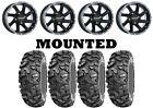 Kit 4 STI Roctane XD Tires 32x10-14 on Raceline Twist Black Wheels 1KXP
