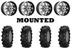Kit 4 ITP Cryptid Tires 32x10-15 on Sedona Badlands Machined Wheels IRS
