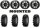 Kit 4 ITP Cryptid Tires 30x10-14 on Sedona Storm Beadlock Black 12mm Wheels CAN