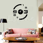 Modern DIY 3D Mirror Surface Number Decal Wall Clock Sticker Home Decor