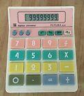 Vintage 1980's Futura 808 Big Keys Pastel Colored Calculator