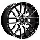 "(4/New) 20"" Lexani Wheels CSS-8 Black Machined Rims"
