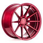 "(4/New) 20"" Rohana Wheels RF1 Gloss Red Rims"