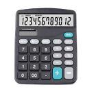 Solar Calculator Business Work Battery Powered 12 Digit Electronic Calculator