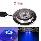 2Pcs 12W Blue Waterproof 6 LED 590LM Marine Underwater Light Boat Yacht light