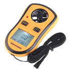 LCD Digital Display Pocket Wind Speed Gauge Meter Anemometer NTC Thermometer C/F