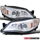 For 08-14 Subaru Impreza WRX 08-11 Outback Sport LED DRL Proj. Headlight Chrome