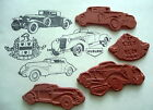 Classic AUBURN Cars 4 UnMounted RUBBER STAMPS Set - Cord 810 Speedster Sportsman