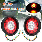 2x 4.3'' 12/24v Round 19 LED Truck Trailer Lorry Brake Stop Turn Tail Light Ring