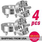 """4 x 1.5"""" 5x4.5 to 5x4.5 Wheel Spacers 1/2"""" Studs Nuts for Jeep Liberty Wrangler"""