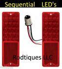 1967-1972 Chevy GMC Fleetside Truck SEQUENTIAL LED Taillights Tail Light Pair