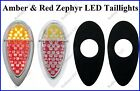 Flat Mount Red & Amber LED Zephyr Taillights Roll Pan Bumper Chevy Truck F39ARZ