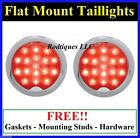 Flat Mount Red LED Taillights Roll Pan Bumper Custom Chevy Truck C39R 2