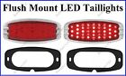 Flat Mount Red LED Taillights Roll Pan Bumper Custom Ford Pickup Truck C4148