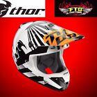 Thor Verge Dazz Orange and White Helmet LARGE 0110-4707
