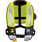 Mustang Yellow ANSI Automatic Inflatable T3 HIT Hydrostatic PFD Life Vest Jacket