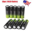 10pcs 18650 Battery 3.7V Li-ion Rechargeable Batteries For Flashlight Torch ga