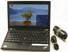 "Lenovo Thinkpad X230 12.5"" Core i5 2.6GHz 4GB 500GB Laptop Adapter WiFi Web Cam"