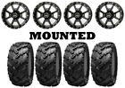 Kit 4 Interco Reptile Tires 27x9-12/27x11-12 on Frontline 556 Black Wheels FXT