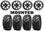 Kit 4 Interco Reptile Tires 25x8-12/25x10-12 on Frontline 556 Black Wheels HP1K