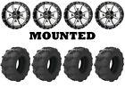 Kit 4 Arisun Tuff Mudder Tires 26x9-12 on Frontline 556 Machined Wheels IRS