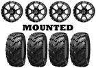 Kit 4 Interco Reptile Tires 25x8-12/25x10-12 on Frontline 556 Black Wheels FXT