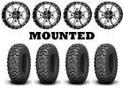 Kit 4 Kenda Mastodon HT Tires 28x10-14 on Frontline 556 Machined Wheels POL