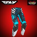Fly Racing Kinetic Race Women's Motocross Pants Blue & Black  371-631